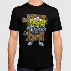 monsters at the door Mens Fitted Tee MEDIUM Black