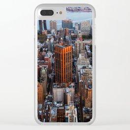 New York skyline.. Clear iPhone Case