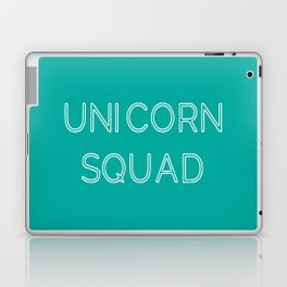 Unicorn Squad - Aqua Blue Green and White Laptop & iPad Skin