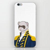 ferret iPhone & iPod Skins featuring Captain Ferret by Szilárd A Legjobb