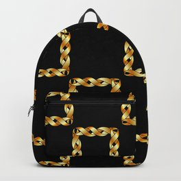 Twisted gold squares Backpack