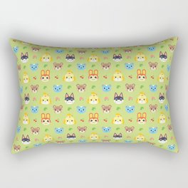 Animal Crossing - Green Rectangular Pillow