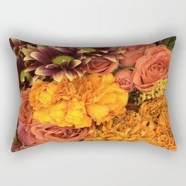 Bright and Beautiful Autumn Floral Flowers Rectangular Pillow