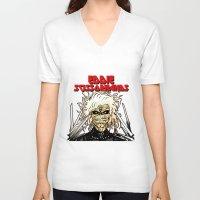 eddie vedder V-neck T-shirts featuring Eddie Scissorhands by Azhmodai