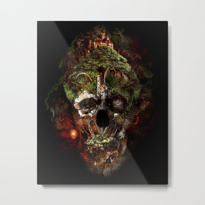 Skull Castle Metal Print