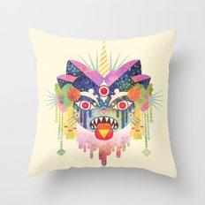 Demon Kitty Throw Pillow