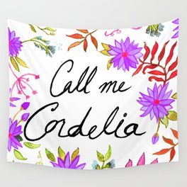 Call Me Cordelia - Purple Flowers Wall Tapestry