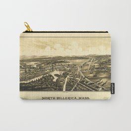 Aerial View of North Billerica, Massachusetts (1887) Carry-All Pouch