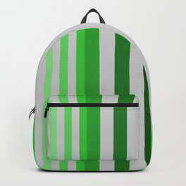 green and grey pattern Backpack