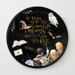 To Dwell On Dreams Wall Clock