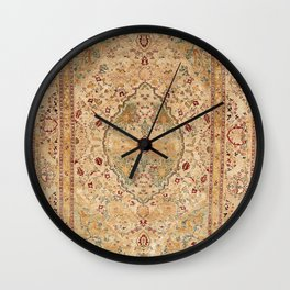 Silk Tabriz Azerbaijan Northwest Persian Rug Print Wall Clock