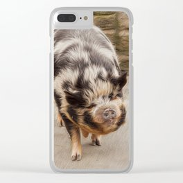 Fat pig Clear iPhone Case