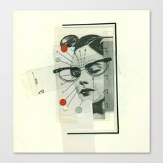Girls Who Wear Glasses Canvas Print