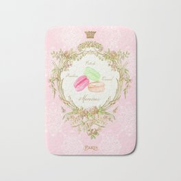 French Patisserie Macarons Bath Mat