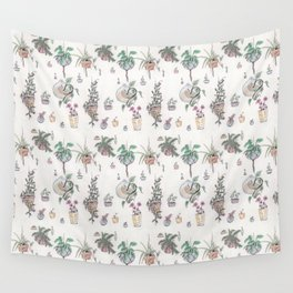 Houseplant Pattern Wall Tapestry