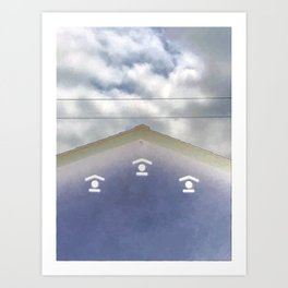 Blue House in Clouds [Cecilia Lee] Art Print