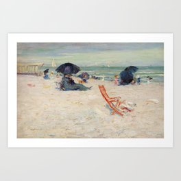 Beach at Atlantic City by Robert Henri Art Print