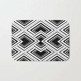 Black And White Art Deco Squares Bath Mat
