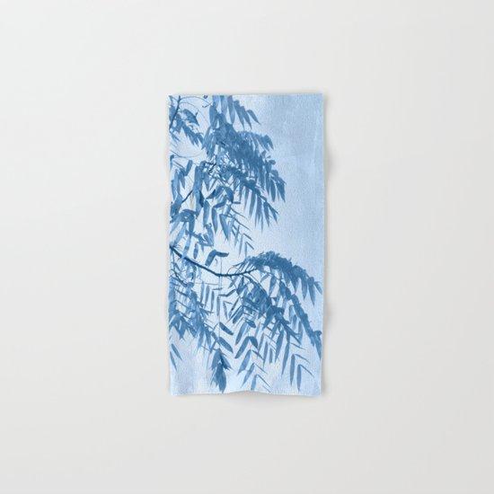 Blue Foliage Hand & Bath Towel