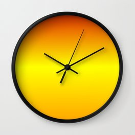 Horizontal Red, Yellow and Orange Gradient Wall Clock