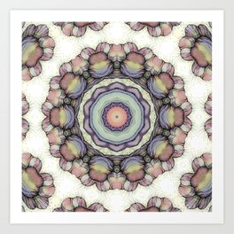 Abstract flowers mandala Art Print
