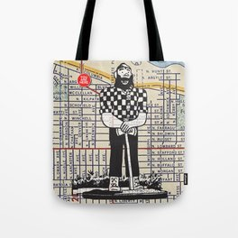 Paul Bunyan, North Denver at Interstate Avenue, You Are Here, Portland. Tote Bag