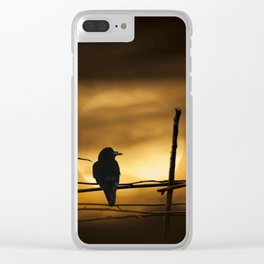 Never More Quoth The Raven Clear iPhone Case