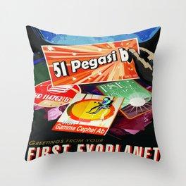 Vintage poster  - 51 Pegasi B Throw Pillow