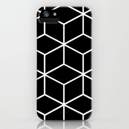 Black and White - Geometric Cube Design II iPhone Case
