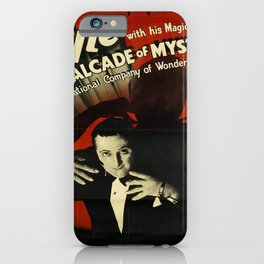 lyle with his magical revue   cavalcade of mystery. circa 1930  oude poster iPhone Case