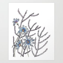 Flower Garden Abstract Art Design Art Print