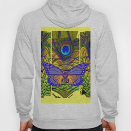 FANTASY PURPLE MONARCH BUTTERFLY PEACOCK FEATHER Hoody