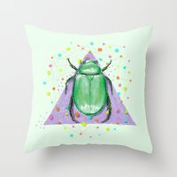insect Throw Pillows featuring INSECT III by dogooder
