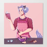 cooking Canvas Prints featuring Cooking by Shibs