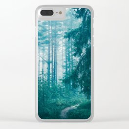 Peer Through The Trees Clear iPhone Case