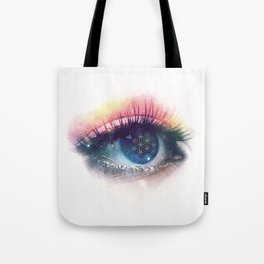 Flower Of Life (Cosmic Vision) Tote Bag