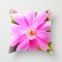 Red Campion, Rote Lichtnelke (Silene dioica) Closeup Throw Pillow