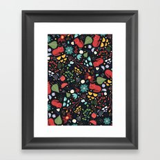 cats and flowers Framed Art Print