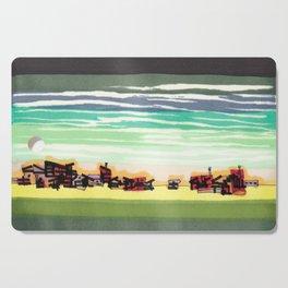Railroad Town In The West Plains Of Nebraska 32 Cutting Board