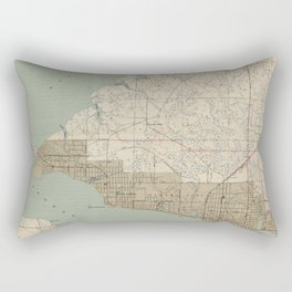 Vintage Map of Panama City FL (1943) Rectangular Pillow