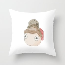 DekaDeka & DekaSan (Ponyo and Salamander) Throw Pillow