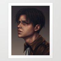levi Art Prints featuring Levi Ackerman by trixdraws