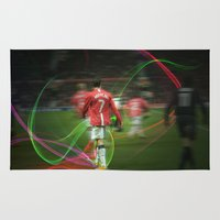 ronaldo Area & Throw Rugs featuring Ronaldo Remix by Shyam13