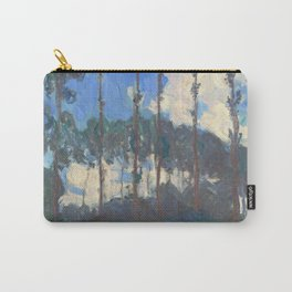 Monet Poplars on the River Epte by Claude Monet Carry-All Pouch