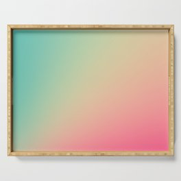 Gradient Colours: Turquoise Pink Pastel Serving Tray