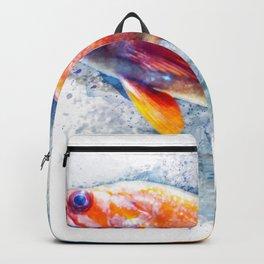Goldfish Underwater Watercolor Backpack