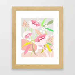 rapture: abstract floral. Framed Art Print