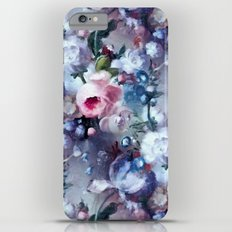 Blue and pink floral pattern iPhone 6s Plus Slim Case
