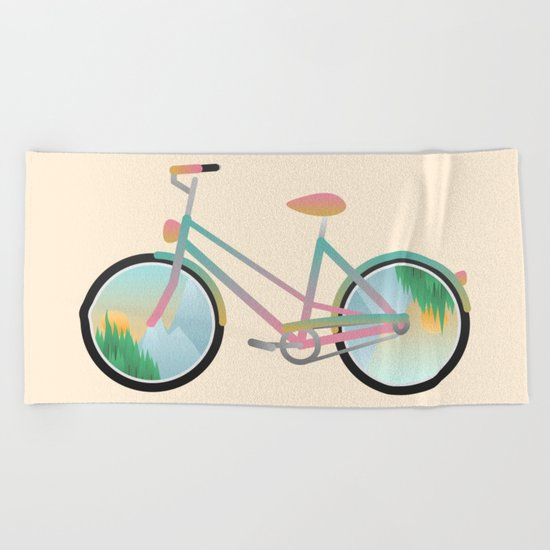 Pimp my bike Beach Towel