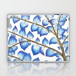 Breezy Blue Leaves Laptop & iPad Skin